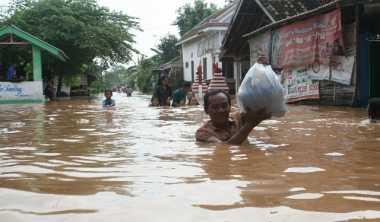 Hujan Lebat di Yogyakarta Genangi Permukiman Warga