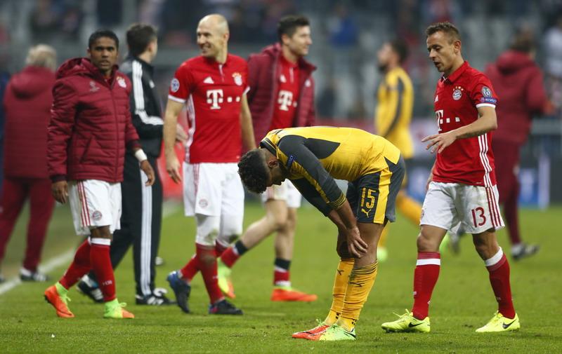 Dibantai Bayern 1-5, Arsenal Ulangi Catatan Buruk di Liga Champions 2015-2016