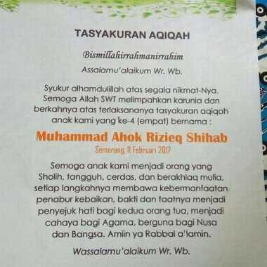 Bayi Bernama Muhammad Ahok Rizieq Shihab Hebohkan Netizen