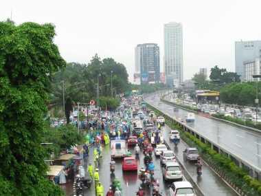 Aksi 212 Jilid II Tetap Ramai Meski Diguyur Hujan