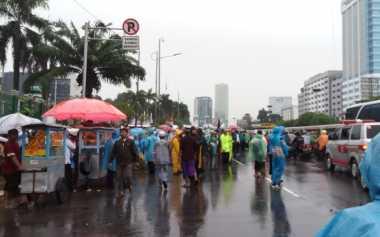 Aksi 212 Jilid II, Lalin Gedung DPR/MPR Tak Bisa Dilalui Imbas Kerumunan Massa