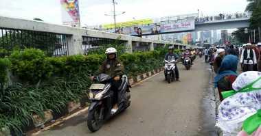 Massa Aksi 212 Bubar, Motor Kembali Dilarang Masuk Tol Dalam Kota