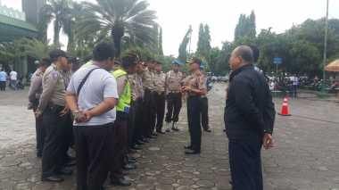 Puluhan Polisi Amankan Doa dan Zikir Bersama Wahidin-Andika di Tangerang