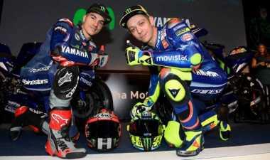 Legenda MotoGP Prediksi Hubungan Rossi-Vinales Bakal Memanas di Yamaha
