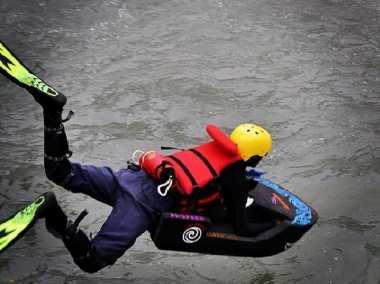 Serunya Bermain Riverboarding di Kali Pusur Klaten