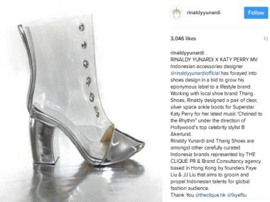 HOT THREAD (3): Wow! Katy Perry Pakai Sepatu Rancangan asal Indonesia