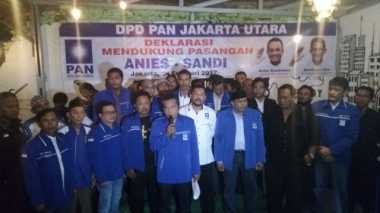 PAN Jakut Deklarasi Dukung Anies-Sandi di Putaran Kedua Pilkada DKI