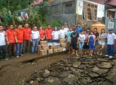 Banjir Rendam Kota Tomohon, Rescue Perindo Sulut Terjun Berikan Bantuan
