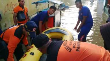 BPBD Siagakan Perahu Karet untuk Evakuasi Korban Banjir