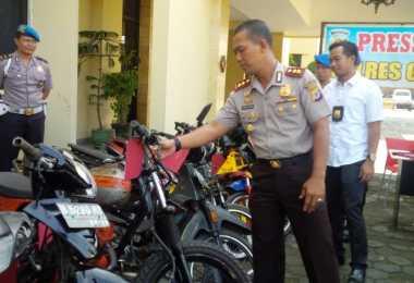 Polres Sukabumi Sita 23 Motor Curian, Satu Pelaku Ditembak Mati