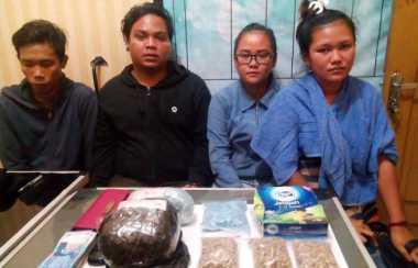 Bawa 1 Kg Sabu dan 8.000 Butir Ekstasi, 4 Pemuda Ditangkap di Riau