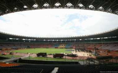 Wapres Sambangi Stadion Utama GBK Pantau Renovasi