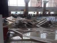 Waduh! Plafon Bandara Supadio Ambruk, 2 Penumpang Terluka