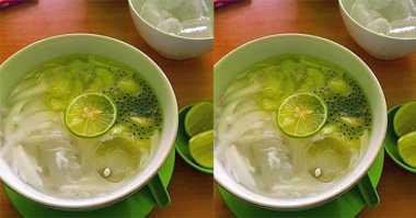 RESEP PILIHAN: Siang-Siang Enaknya Minum Es Melon Kelapa Muda