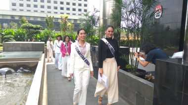 Para Finalis Putri Indonesia Sambangi KPK, Ada Apa?