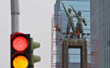 TOP FILES: Patung Sejoli 55 Tahun Menyapa Dunia di Bundaran HI, Tahu Sejarahnya?