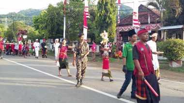 Banser & Pecalang Bersatu Amankan Arakan Ogoh-Ogoh di Buleleng