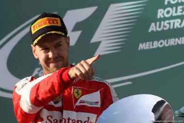 Jadi Pemenang F1 GP Australia 2017, Vettel Ngaku Bahagia