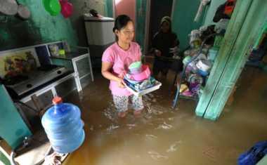Menahan Banjir, BPBD Mojokerto Gunakan Bambu
