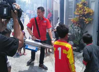 Fogging di Koja Jakarta Utara, Warga Nyanyikan Mars Perindo