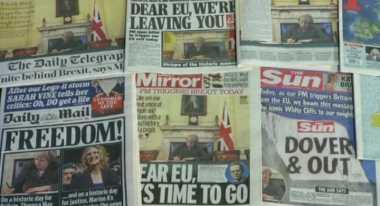 Headline Media Inggris Sambut Momen Brexit yang Bersejarah