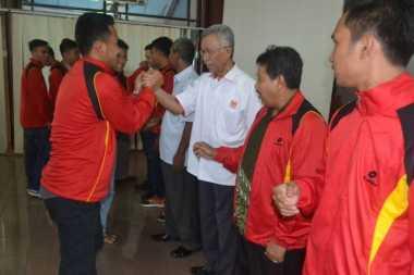 Cari Emas Kejurnas, 28 Atlet Bola Tangan Sumsel Bertolak ke Jakarta