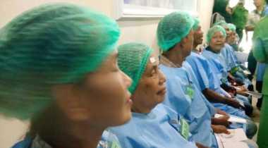 Alhamdulillah, 120 Penderita Katarak di Lampung Dapat Operasi Gratis