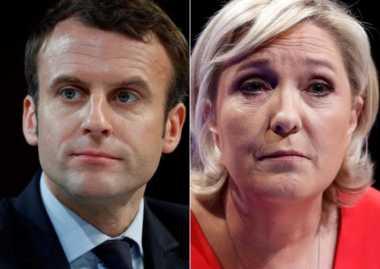 Macron dan Le Pen Melaju ke Putaran Kedua Pilpres Prancis