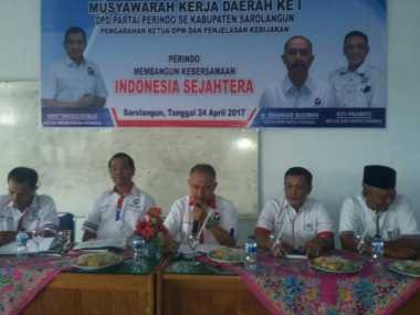 Sejahterakan Masyarakat, DPD Perindo Sarolangun Kerja Sama dengan Pemkab Setempat