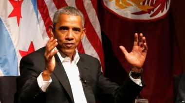 Ini Penampilan Perdana Obama Pascalengser sebagai Presiden AS