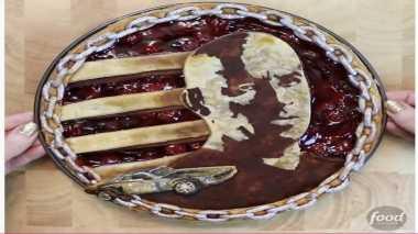 Keren, Pie Ini Berkonsep Dominic Toretto 'Fast & Furious 8' Lengkap dengan Mobil Balapnya