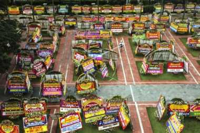 1.000 Karangan Bunga untuk Ahok-Djarot Penuhi Balai Kota