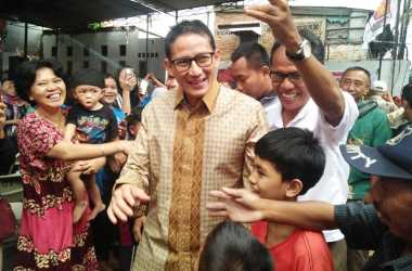 Disambut Meriah, Sandiaga Uno Tiba di Kantor DPD Gerindra DKI Jakarta