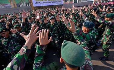 Kampanye Antinarkoba dan Tolak Radikalisme, TNI-Polri Joget 'Turun-Naik' di Pontianak