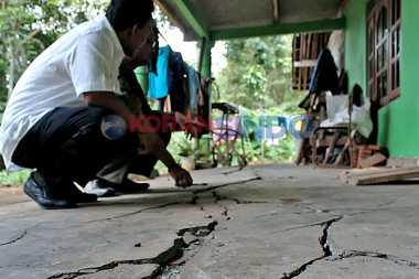 Retakan Lereng Kelud Picu Amblesnya Puluhan Sumur di Kediri
