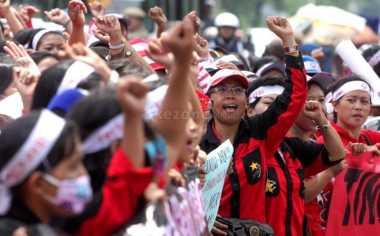 Walah, Masih Ada Buruh Bawa Anak saat Perayaan May Day