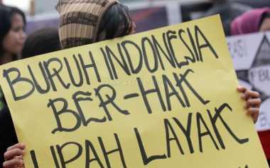 Buruh Mulai Bergerak ke Gedung Sate Bandung
