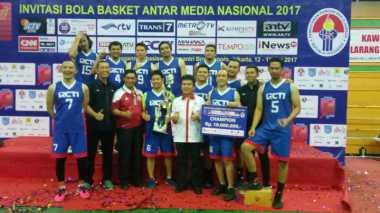 Kalahkan Kompas TV 48-37, RCTI Juara Invitasi Bola Basket Antar Media Nasional 2017