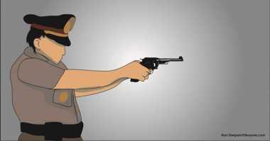 Dor!! Polisi Tembak Kawanan Pencuri Uang Nasabah Bank di Lamongan