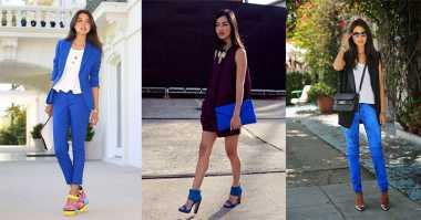 Cara Elegan Mengenakan Outfit Cobalt Blue yang Lagi Tren