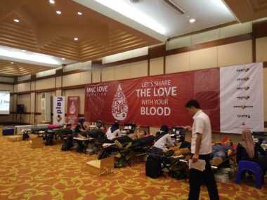 Antusiasme Karyawan Sambut Donor Darah MNC Group Bersama PMI Depok