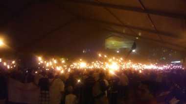 Sambut Ramadhan, Ribuan Umat Islam di Sumut Gelar Pawai Obor