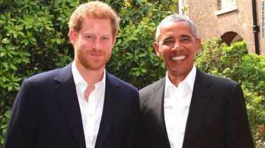 Ucapkan Belasungkawa Bom Manchester, Obama Kunjungi Istana Kensington dan Disambut Pangeran Harry
