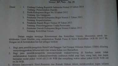 Selama Ramadan, Ini Jam Operasional Rumah Makan di Bogor