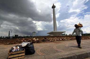 Akhir Pekan, Cuaca Jakarta Pagi Hari Berawan Tebal