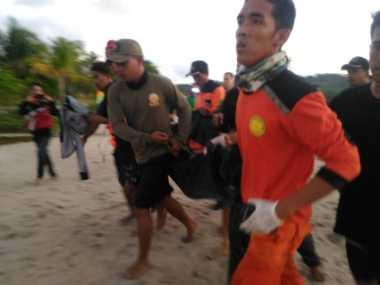 Empat Warga Sungailiat Terseret Gelombang Laut 1 Tewas