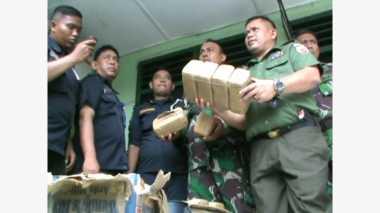 Pengiriman 22 Kg Ganja Melalui Bus ALS Digagalkan Personel TNI