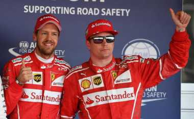 Kimi Raikkonen Murung di Podium, Ini Komentar Sebastian Vettel