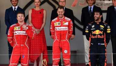 Duel Penuh Drama Perebutan Podium Teratas, Ini Komentar Sebastian Vettel dan Kimi Raikkonen