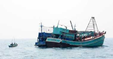 Wah... Kapal Ikan Asing Ditangkap di Perairan Aceh